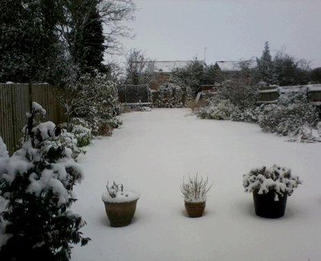 Toddington Bedfordshire in the snow