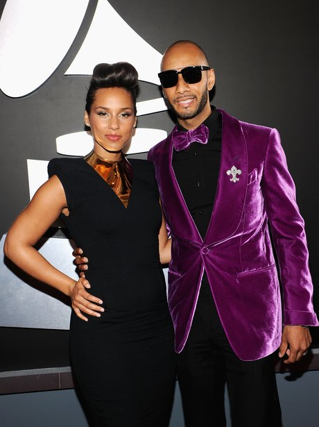 Alicia Keys and Swizz Beatz at the Grammy Awards 2