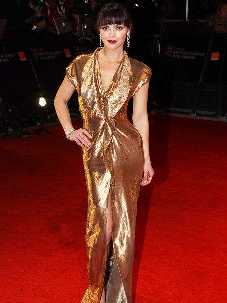 Christina Ricci arrives at the BAFTAS 2012