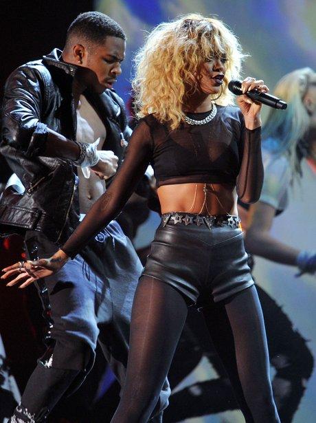 Rihanna live at the Grammy Awards