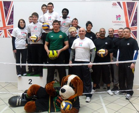 The Paralympic Sitting Volleyball event at the Gro
