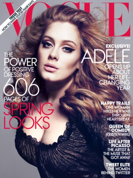 Vogue Magazine with Adele