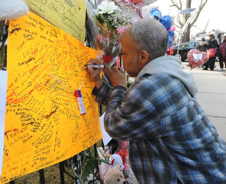 Fans pay tribute to the late Whitney Houston
