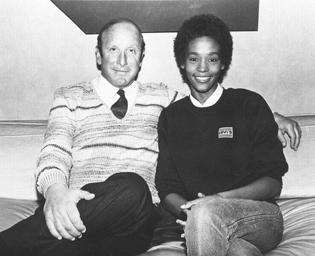 Whitney Houston with Clive Davis