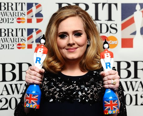 Adele at the BRIT Awards 2012
