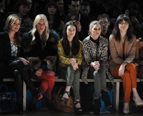 celebs at fashion week