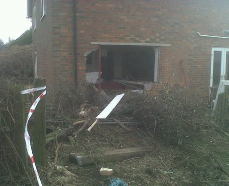 House hit by car near Winslow