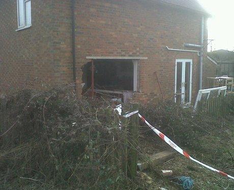House hit by car near Winslow