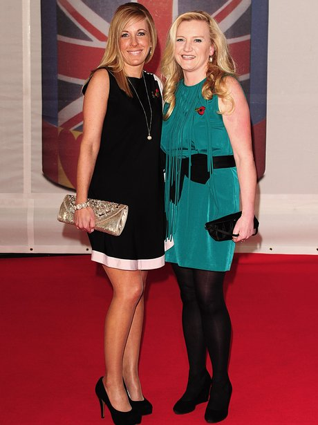 Military Wives on the red carpet at the BRIT Award