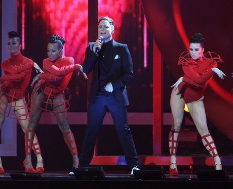 Olly Murs live at the BRIT Awards 2012