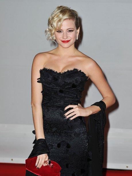 Pixie Lott arrives at the BRIT Awards 2012