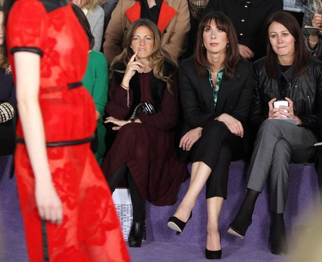 celebs at fashion week