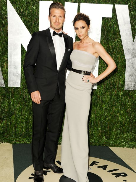 david and victoria beckham at the Vanity Fair Oscar Party 2012