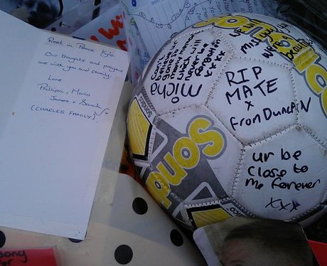 Tributes have been left outside Portchester School