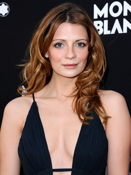 mischa barton in a plunging black dress