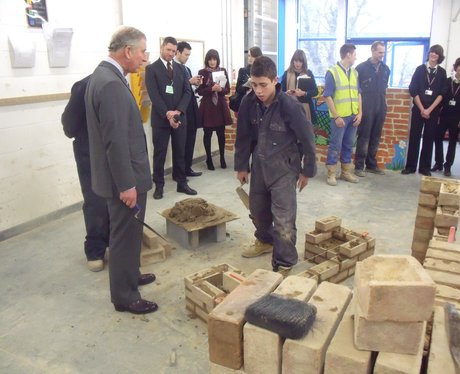 Prince Charles at Gt Yarmouth College 1