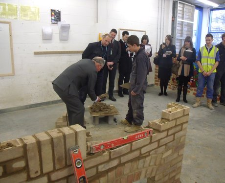 Prince Charles at Gt Yarmouth College