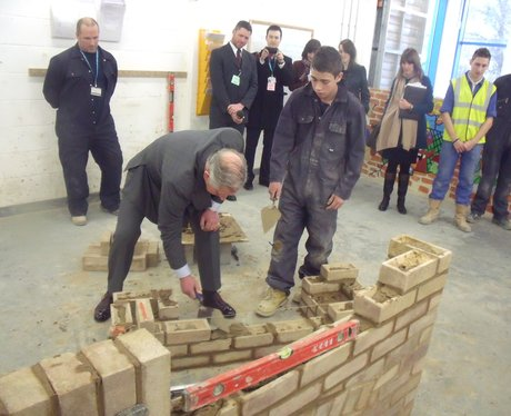 Prince Charles visits Gt Yarmouth College