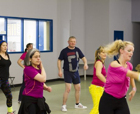 Heart Hijacks Carly's Zumba class at the Dale Barr