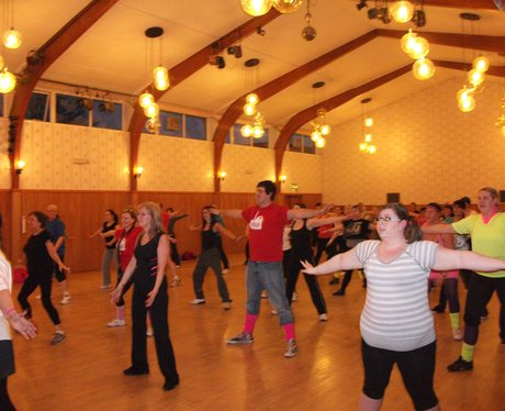 Heart hijacks Claire's Zumba class in Wrexham