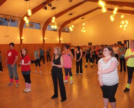 Heart hijacks Claire's Zumba class in Wrexham