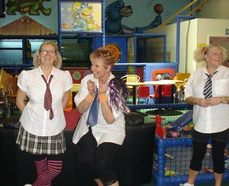 Heart's hijacks Michelle's Zumba class in Wrexham