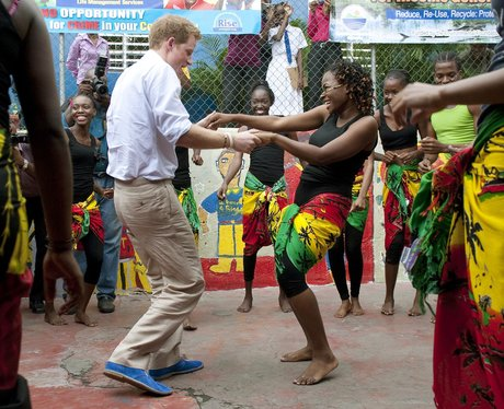 Prince Harry dances