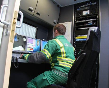Inside the mobile control centre