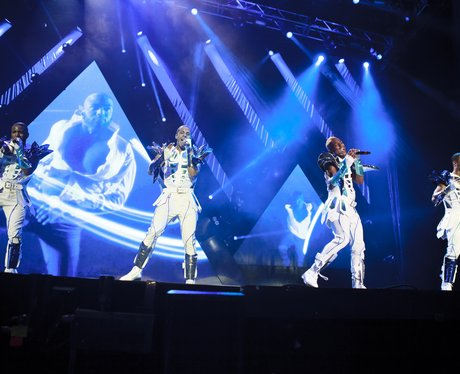 JLS perform live on tour