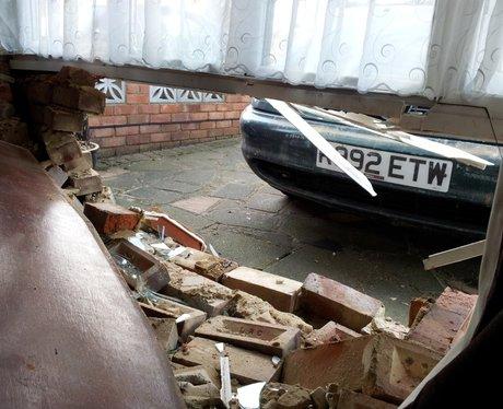 Car Smashes Through House In Hemel