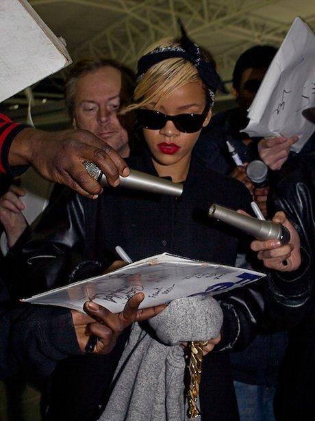 Rihanna at the airport