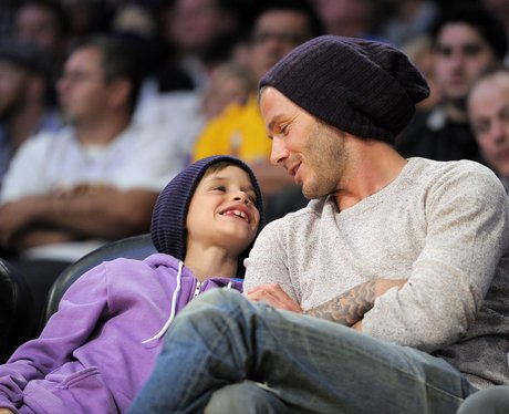 David Beckham and son