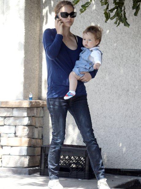 Natalie Portman and son Aleph