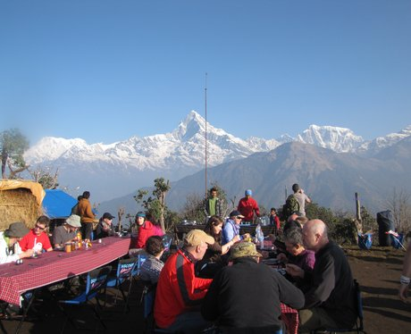 Breakfast in the Himalayas