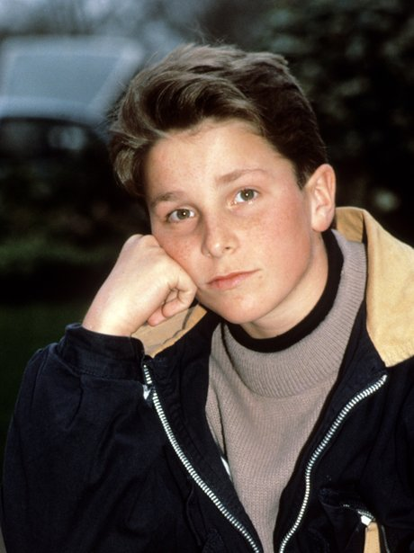 Christian Bale as a young boy