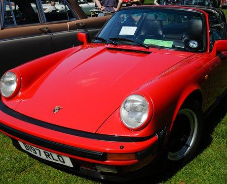 A vintage Porsche 911
