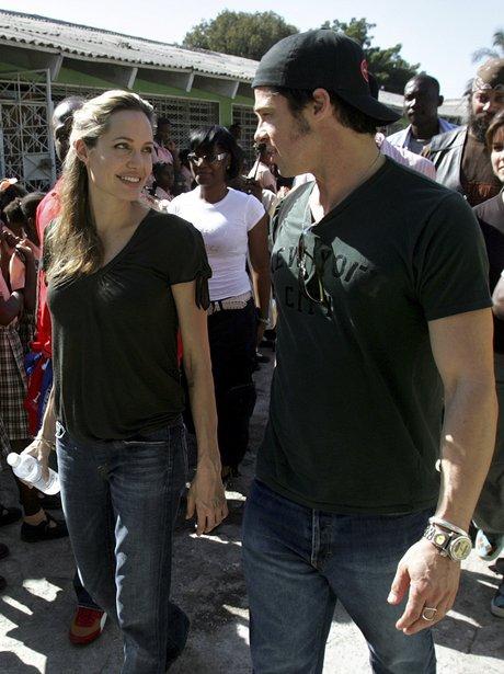 Brad and Angelina in Haiti