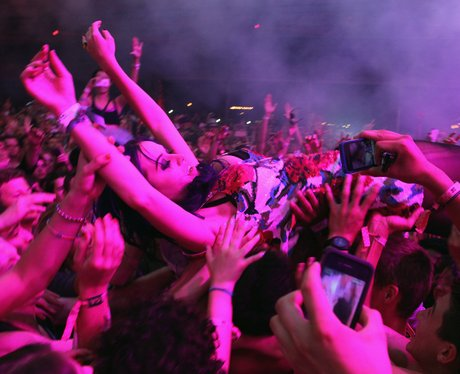 Katy Perry crowd surfing