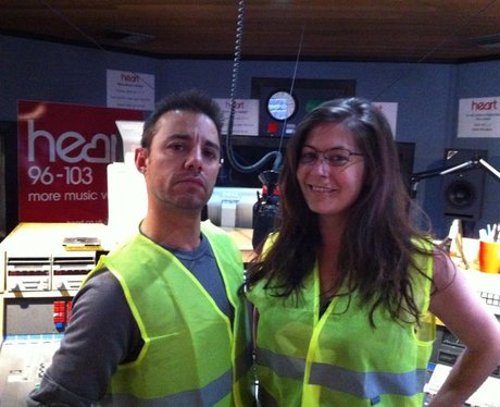 JK and Lucy in high-vis vests