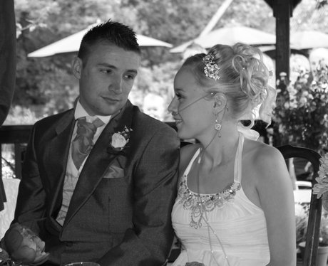 Kirstie at her wedding