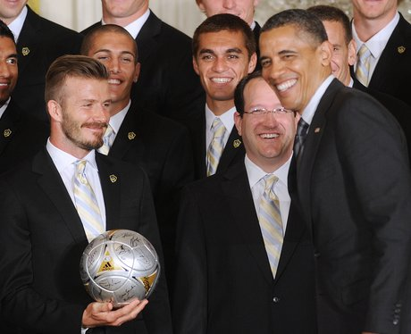 David Beckham meets Barack Obama