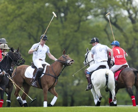 Prince William and Harry play polo