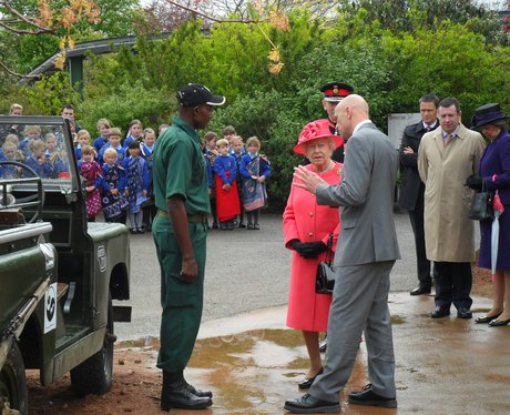 The Queen and Prince Philip visit Chester Zoo