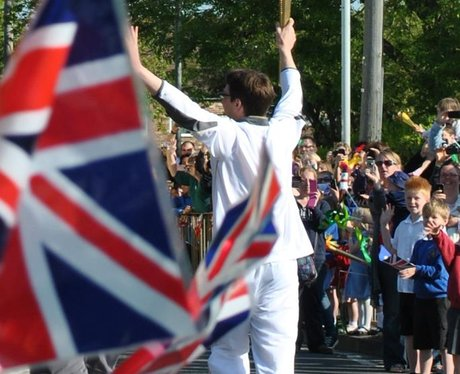 Catherine snaps the Olympic Torch