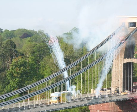 Fireworks on Clifton Suspension Bridge