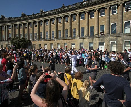 Olympic Torch at Royal Crescent