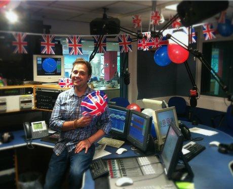 Heart's Jubilee-decorated studio.