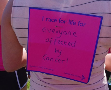 Race for Life telford messages