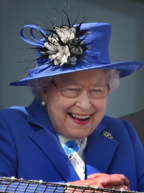 The Queen at Epsom Derby