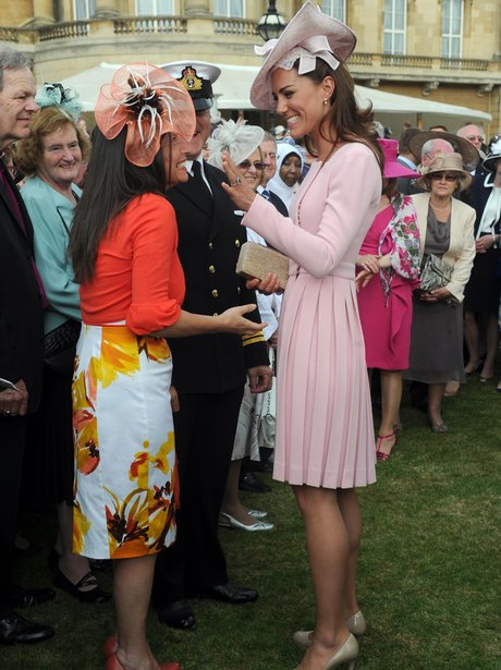 The Duchess of Cambridge talks with guests